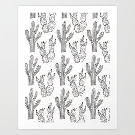 Austin Cacti Print Art Print