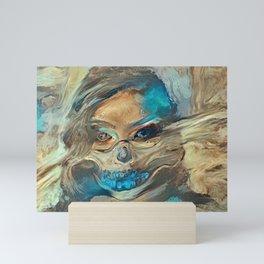 Sand Storm Ghost   AI-Generated Art Mini Art Print
