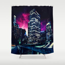 Spacey Los Angeles Shower Curtain