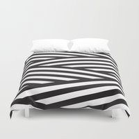 stripes Duvet Covers featuring Stripes by Dizzy Moments