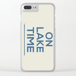 On Lake Time Clear iPhone Case