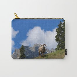 Ram Against Mountain Backdrop Carry-All Pouch