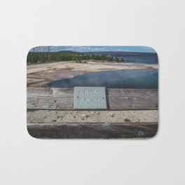 Abyss Pool, West Thumb Geyser Basin, Yellowstone National Park Bath Mat