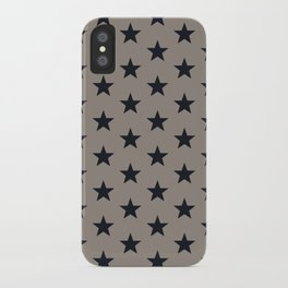 Superstars Black on WarmGray Medium iPhone Case