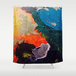 El Nino Abstract Shower Curtain