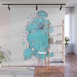 The happy POODLE Love of My Life - your Poo Poo dog keeps you smiling! Wall Mural