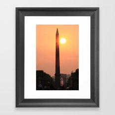 Love is like a Sunset Framed Art Print