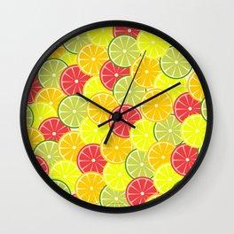 Summer fruits Wall Clock