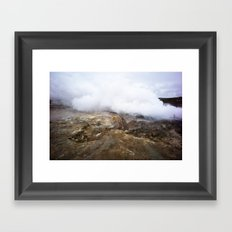 geothermal steam Framed Art Print