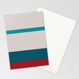 A pretty arrangement of Rouge, Blush, Pastel Gray, Dark Cyan and Philippine Indigo stripes. Stationery Cards