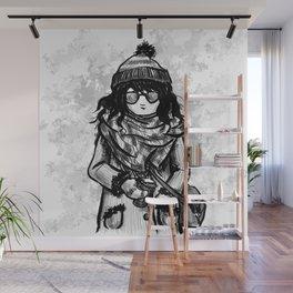 Scarf Season Wall Mural