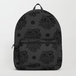 skull and flowers Backpack