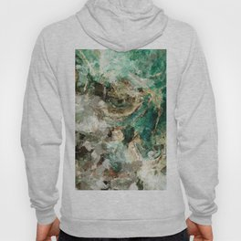 Teal Contemporary and Abstract Painting Hoody