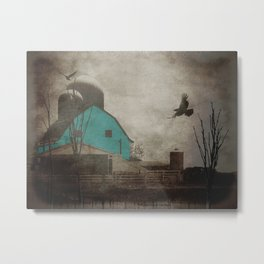 Rustic Teal Barn Country Art A158 Metal Print
