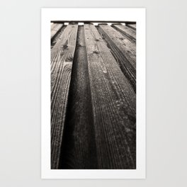 Vertical Grains Art Print