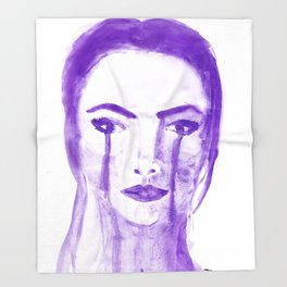 Violet Silence Throw Blanket