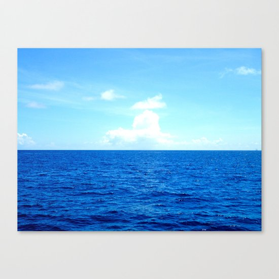 Serene Blue Water Canvas Print