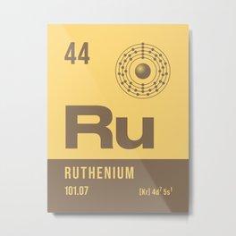 Periodic Element A - 44 Ruthenium Ru Metal Print