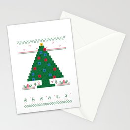 Oh Chemistre Funny Science Periodic Table Christmas Tree print Stationery Cards