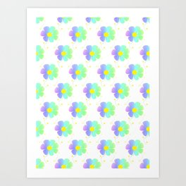 Blossom Repeat Art Print