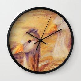 Duo of tenderness   Duo de tendresse Wall Clock