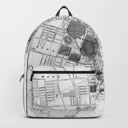 Vintage Map of Halifax Nova Scotia (1878) BW Backpack