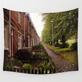 HOUSE ROW. Wall Tapestry