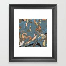Modern Abstract Shapes Framed Art Print