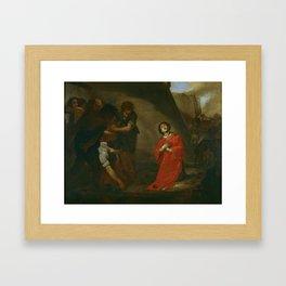 Martyrdom of St Stephen by Bernardo Cavallino, circa 1645 Framed Art Print