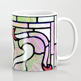 Delicate Stained-glass in Victorian Pink Detail Coffee Mug