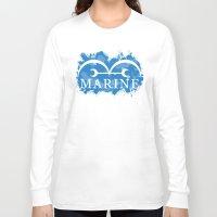 marine Long Sleeve T-shirts featuring Marine by rKrovs