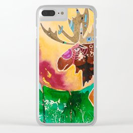 Fantastic Moose - Animal - by LiliFlore Clear iPhone Case