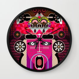 Abstract Graphic Art Wall Clock