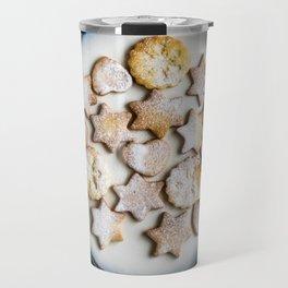 Santa's Christmas Cookies (Color) Travel Mug
