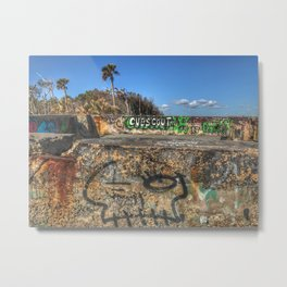 Beach Graffiti  Metal Print