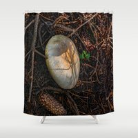 mushroom Shower Curtains featuring Mushroom by Christia Caldwell Moody