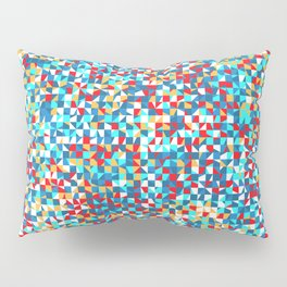 grid in red and blue Pillow Sham