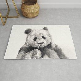 Panda black white Rug