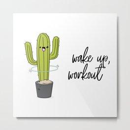 Cactus workout Metal Print
