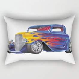 Mutant Art Hot Rod Rectangular Pillow