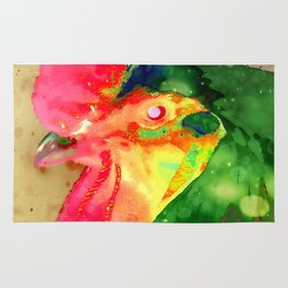 A Doodle Doo Three Colorful Rooster Rug