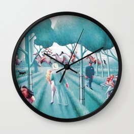 Sunday in the Park by Archibald Motley Wall Clock