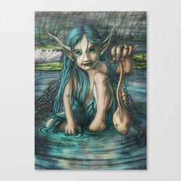 The Naiad's Catch Canvas Print