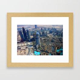 View from the Burj Khalifa Framed Art Print