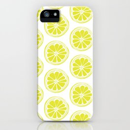 Sliced Lemon iPhone Case