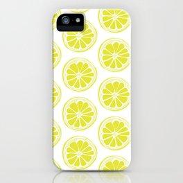 Sliced Lemon iPhone Case