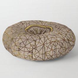 Vegvisir. The Magic Navigation Viking Compass Floor Pillow