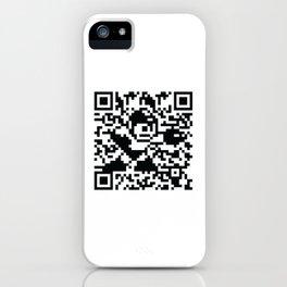 Mega Man QR Code 8-Bit Art iPhone Case