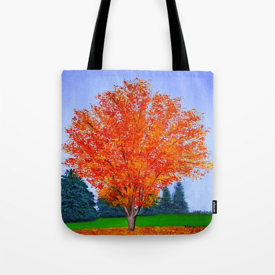 Fall tree in ND Tote Bag