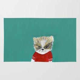 disheveled kitty Rug